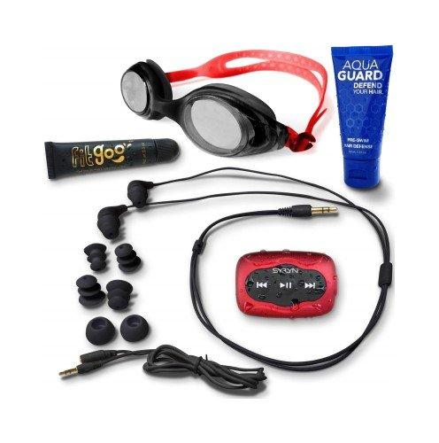 Swimbuds Headphones and SYRYN waterproof MP3 player