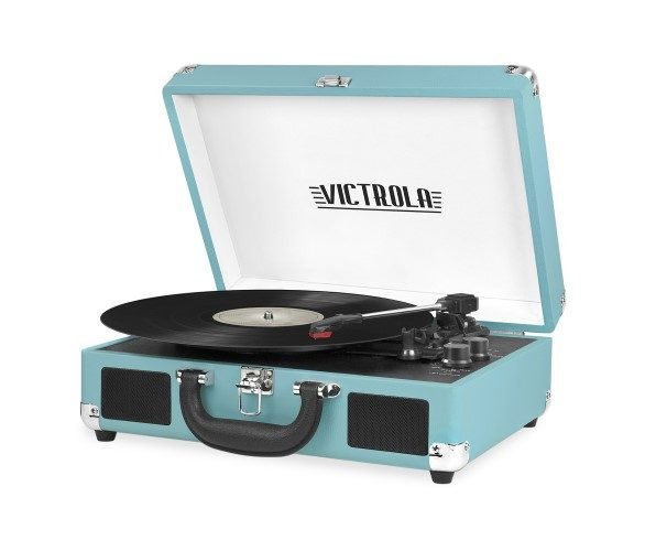 Victrola Vintage 3-Speed Bluetooth Suitcase Portable Record Player
