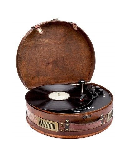 ClearClick Vintage Suitcase Record Player