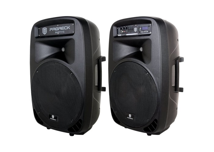 PRORECK PARTY 15 Powered PA Speaker System